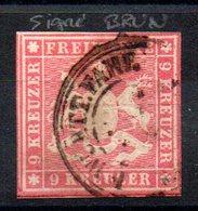 WURTEMBERG - YT N° 9 Signé Brun - Cote: 90,00 € - Wurttemberg