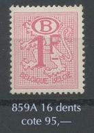 1F Service ** 16 Dents 56.B.  Cote 60 Euros ** - 1951-1975 Lion Héraldique