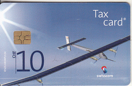SWITZERLAND - Solar Airplane, Fur Unsere Zukunft(CHF 10), Chip GEM3.3, Exp.date 12/12, Used - Switzerland