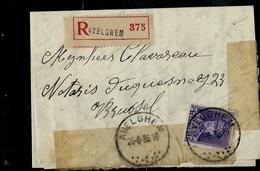 Doc.  De AVELGHEM Du 25/08/35  Avec N° 322 Seul Sur Lettre  En Rec. - 1931-1934 Kepi