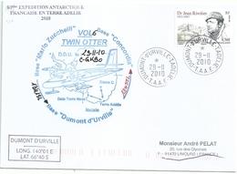 YT 557 Dr Rivolier - Transport Par Avion Twin Otter - Dumont D'Urville - Terre Adélie - 29/11/2010 - French Southern And Antarctic Territories (TAAF)