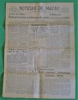 Macau - Jornal Notícias De Macau, Nº 5996, 1 Dezembro De 1967 - Imprensa - Macao - China - Portugal - General Issues