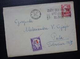Yugoslavia 1954 Serbia Red Cross PORTO Stamp On Cover To Croatia B1 - 1945-1992 République Fédérative Populaire De Yougoslavie