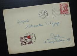 Yugoslavia 1955 Serbia Red Cross PORTO Stamp On Cover To Croatia B3 - 1945-1992 République Fédérative Populaire De Yougoslavie