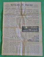 Macau - Jornal Notícias De Macau, Nº 5973, 4 Novembro De 1967 - Imprensa - Macao - China - Portugal - General Issues