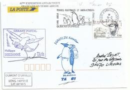 YT 557 Dr Rivolier - Gérant Postal - Secap De Dumont D'Urville - Terre Adélie - 09/02/2011 - Manchot Empereur - French Southern And Antarctic Territories (TAAF)