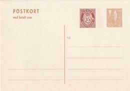 NORVEGE - ENTIER POSTAL - N° P155 (1975) Avec Carte Réponse Payée - Entiers Postaux