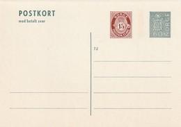 NORVEGE - ENTIER POSTAL - N° P146 (1973) Avec Carte Réponse Payée - Entiers Postaux