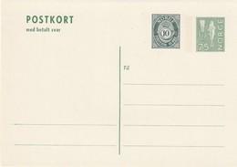 NORVEGE - ENTIER POSTAL - N° P150 (1974) Avec Carte Réponse Payée - Entiers Postaux