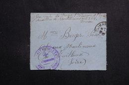 FRANCE - Carte Lettre En FM De L 'Hôpital Mixte De Montélimard Pour Fouillouse  - L 61458 - Storia Postale