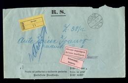 AUSTRIA-DALMATIA - Judicial Letter Sent By Registered Mail From Drnis 1912. - 1850-1918 Imperium