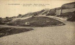 BLANKENBERGHE- Vue D'ensemble. Batterie Côtière De 150 Mm  EERST WERELDOORLOG BELGIË BELGIQUE 1914/18 WWI WWICOLLECTION - Guerra 1914-18