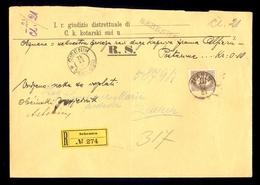 AUSTRIA-DALMATIA - Judicial Letter Sent By Registered Mail From Sibenik/Sebenico 1903. - 1850-1918 Imperium