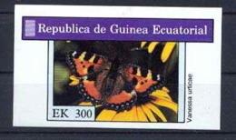 Guinée équatoriale Guinea 047 -Papillons Butterflies Papillon Bloc NON EMIS Non Dentelé Imperforate MNH ** - Guinea Ecuatorial