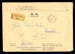 AUSTRIA-DALMATIA - Judicial Letter Sent By Registered Mail From Sibenik/Sebenico 1915. - 1850-1918 Imperium