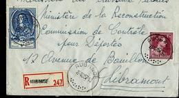 Doc. De AUBANGE  27/10/52 Avec N° 885 (UPU)  En Rec. - Poststempel