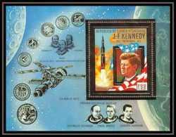 140 Guinée équatoriale Guinea Bloc N°85 OR Gold Stamps Kennedy SKYLAB 1 Espace Space - Guinea Ecuatorial