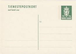 NORVEGE - ENTIER POSTAL - N° DP43 (1973) Avec Carte Réponse Payée - Entiers Postaux