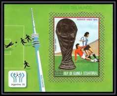 148 Guinée équatoriale Guinea Bloc N°265 Non Dentelé Imperforate OR Gold Stamps Football Soccer Argentina 78 (soccer) - Guinea Ecuatorial