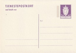 NORVEGE - ENTIER POSTAL - N° DP49 (1975) Avec Carte Réponse Payée - Entiers Postaux