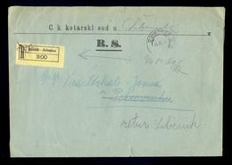 AUSTRIA-DALMATIA - Judicial Letter Sent By Registered Mail From Sibenik/Sebenico 1917. - 1850-1918 Imperium