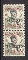 Kouang-Tchéou N° 44b Neuf * - Variété 4 Fermé Tenant à Normal - Cote 65€ - Ungebraucht