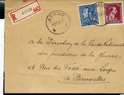 Doc. De ATHUS - A A - Du 03/07/51  En Rec. - Poststempel