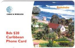 BARBADOS A-051 Magnetic Telecom - Landscape, Coast - 284CBDC - Used - Barbades