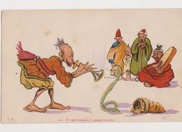Cpa Fantaisie Humoristique Signée P.Néri / Le Charmeur De Serpent - Other Illustrators