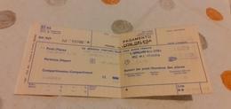 BIGLIETTO TRENO SUPPLEMENTO LETTO DA PALERMO CENTRALE A VENEZIA SANTA LUCIA 1989 - Trenes