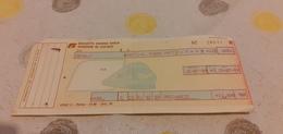 BIGLIETTO TRENO DA CEFALÙ A PATTI SAN PIERO PATTI 1989 - Railway