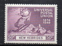 T1700 - NUOVE HEBRIDES 1949 ,  Yvert N. 143 *** MNH (2380A) - English Legend