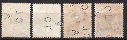 Alexandrie N° 42, 50A 53 Et 54 Oblitérés - Perforé (Perfin) - Alexandrie (1899-1931)