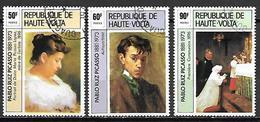 HAUTE VOLTA  -  1975   .Y&T N° 361 à 363 Oblitérés.     Tableaux De PICASSO - Alto Volta (1958-1984)