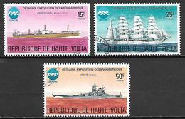 HAUTE VOLTA  -  1975   .Y&T N° 364 à 365 + 367 Oblitérés.    Bateaux  /  Océanographie - Alto Volta (1958-1984)