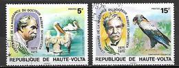 HAUTE VOLTA  - 1975   .Y&T N° 357 à 358 Oblitérés.    Docteur Schweitzer / Oiseaux - Alto Volta (1958-1984)