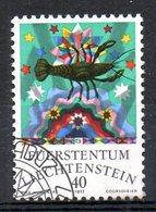 LIECHTENSTEIN. N°608 Oblitéré De 1977. Signe Du Cancer. - Astrología