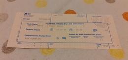 BIGLIETTO TRENO DA NAPOLI GARIBALDI A VILLA SAN GIOVANNI 1989 - Trenes