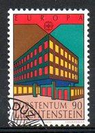 LIECHTENSTEIN. N°926 Oblitéré De 1990. Bureau De Poste. - Europa-CEPT