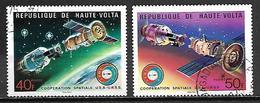 HAUTE VOLTA   -  1975   .Y&T N° 359 à 360 Oblitérés.    Espace / Cosmos - Alto Volta (1958-1984)