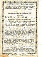 Doodsprentje  Maria SIERON    Brugge 1858  Melle 1886     Echtg Landuyt - Godsdienst & Esoterisme
