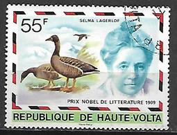 HAUTE VOLTA  -  1977 . Y&T N° 428 Oblitéré .  Prix Nobel  /  Selma Lagerlof, Littérature. - Alto Volta (1958-1984)
