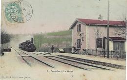 CPA  FRONCLES  (HAUTE-MARNE) 52 - La Halte  N° 1  - Animée Et Colorisée - Frankreich