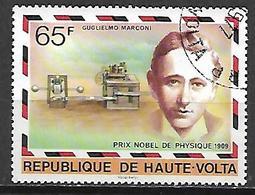 HAUTE VOLTA  -  1977 . Y&T N° 429 Oblitéré .  Prix Nobel  /  Guglielmo Marconi, Physique. - Alto Volta (1958-1984)