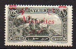Alaouïtes N° 43 Neuf * - Variété Surcharge Décalée Vers Le Haut - Alaouites (1923-1930)
