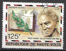 HAUTE VOLTA  -  1977 . Y&T N° 430 Oblitéré .  Prix Nobel  /  Bertrand Russel, Littérature - Alto Volta (1958-1984)