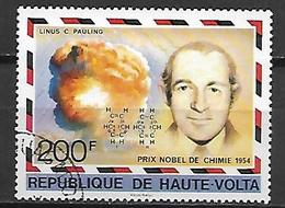 HAUTE VOLTA  -  1977 . Y&T N° 431 Oblitéré .  Prix Nobel  /  Linus C. Pauling,  Chimie. - Alto Volta (1958-1984)