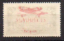 Alaouïtes Avion N° 14e Neuf ** - Variété Surcharge Recto-Verso - Cote 75€ - Alaouites (1923-1930)