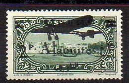 Alaouïtes Avion N° 17f Neuf * - Variété Surcharge NOIRE - Cote 120€ - Alaouites (1923-1930)
