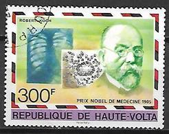 HAUTE VOLTA  -  1977 . Y&T N° 432 Oblitéré .  Prix Nobel  /  Robert Koch , Médecine. - Alto Volta (1958-1984)